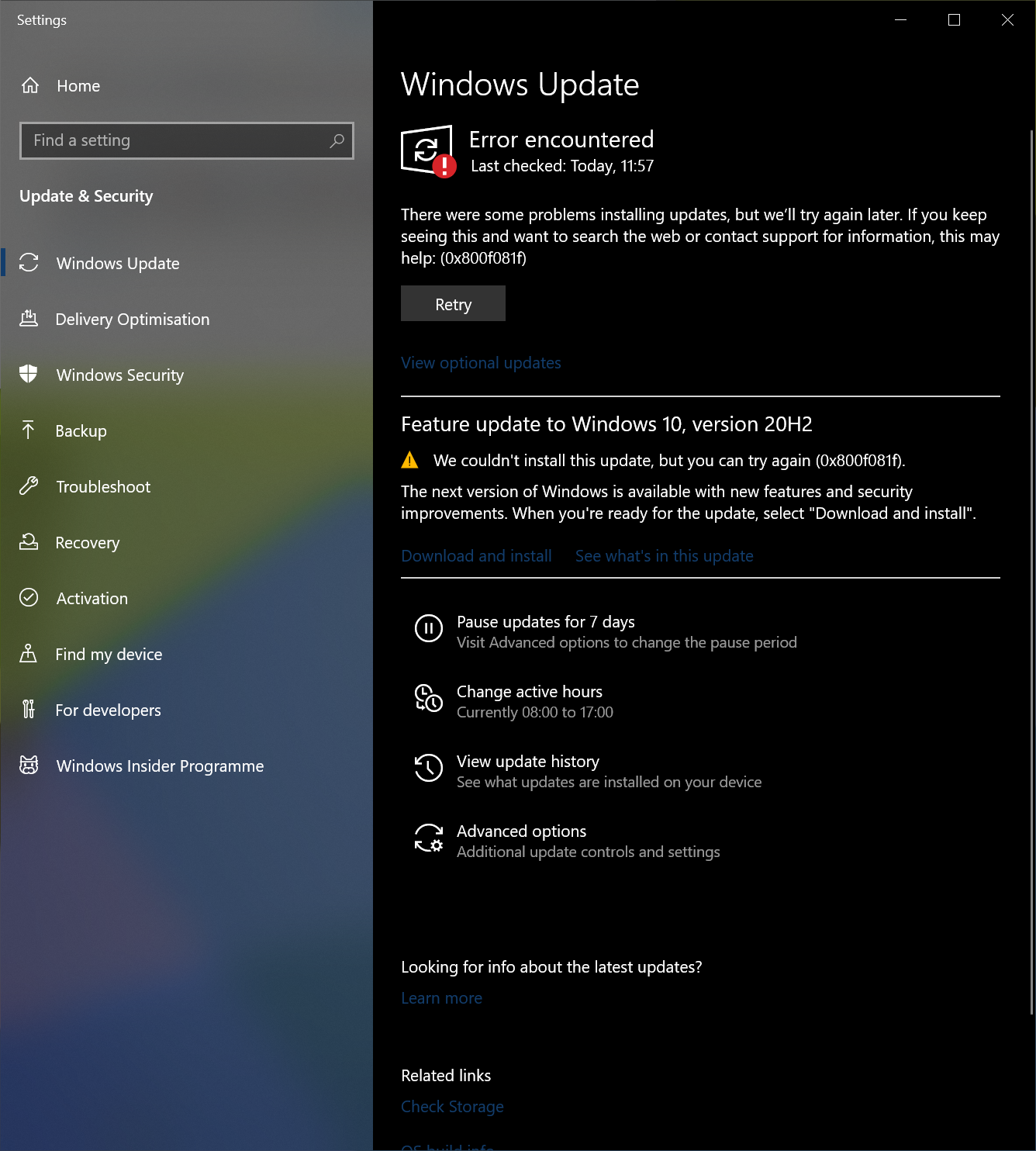 Unable To Install Windows Updates