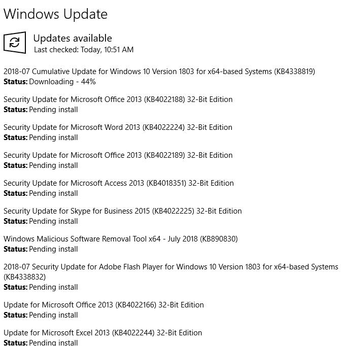 downloading updates windows 10 stuck
