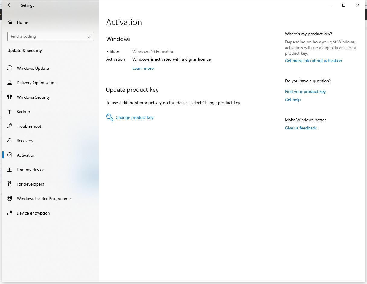 Link Windows 10 Education digital license to Microsoft account 06ba60f2-e4b7-413f-a63d-191be0e0844d?upload=true.png