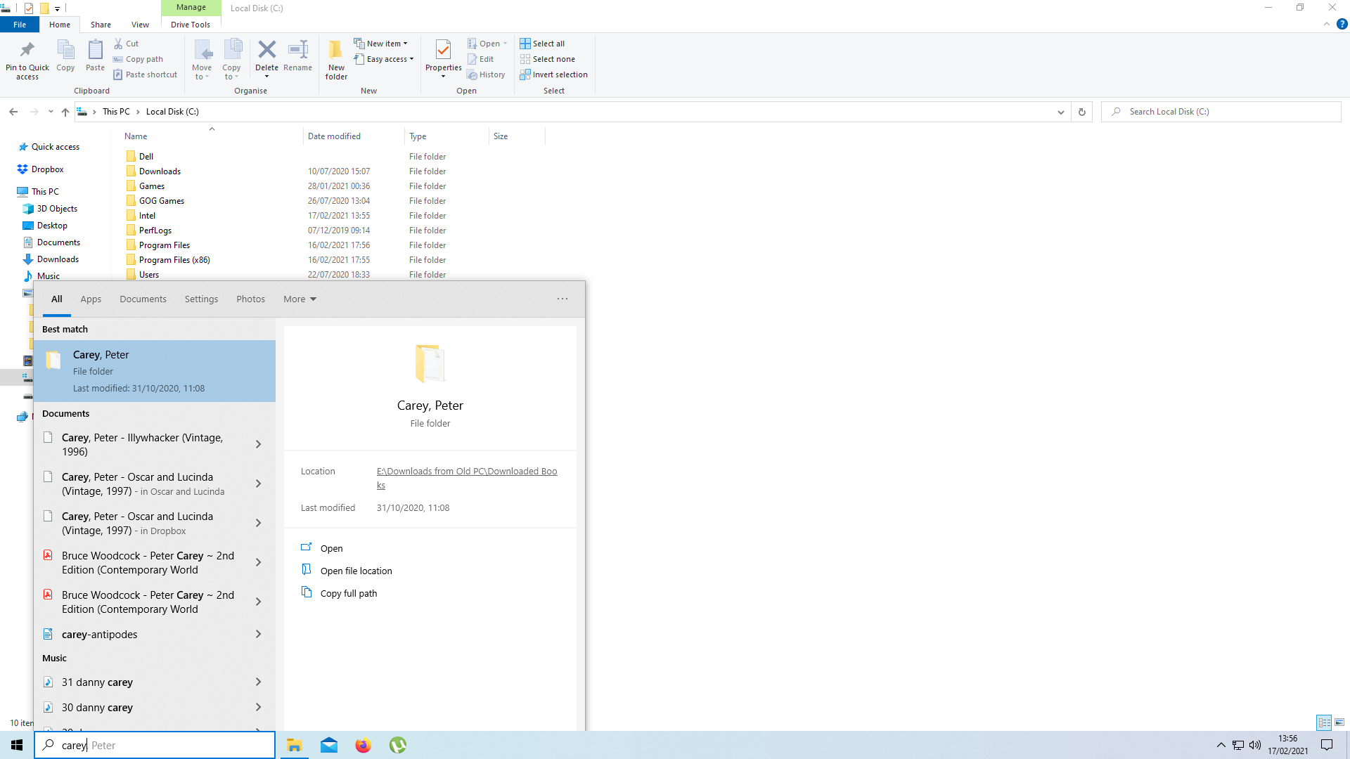 Icons disappearing in Windows 10 Search Box results after a while 07ec7c49-9390-4cb2-8dd1-34753d6671ae?upload=true.png