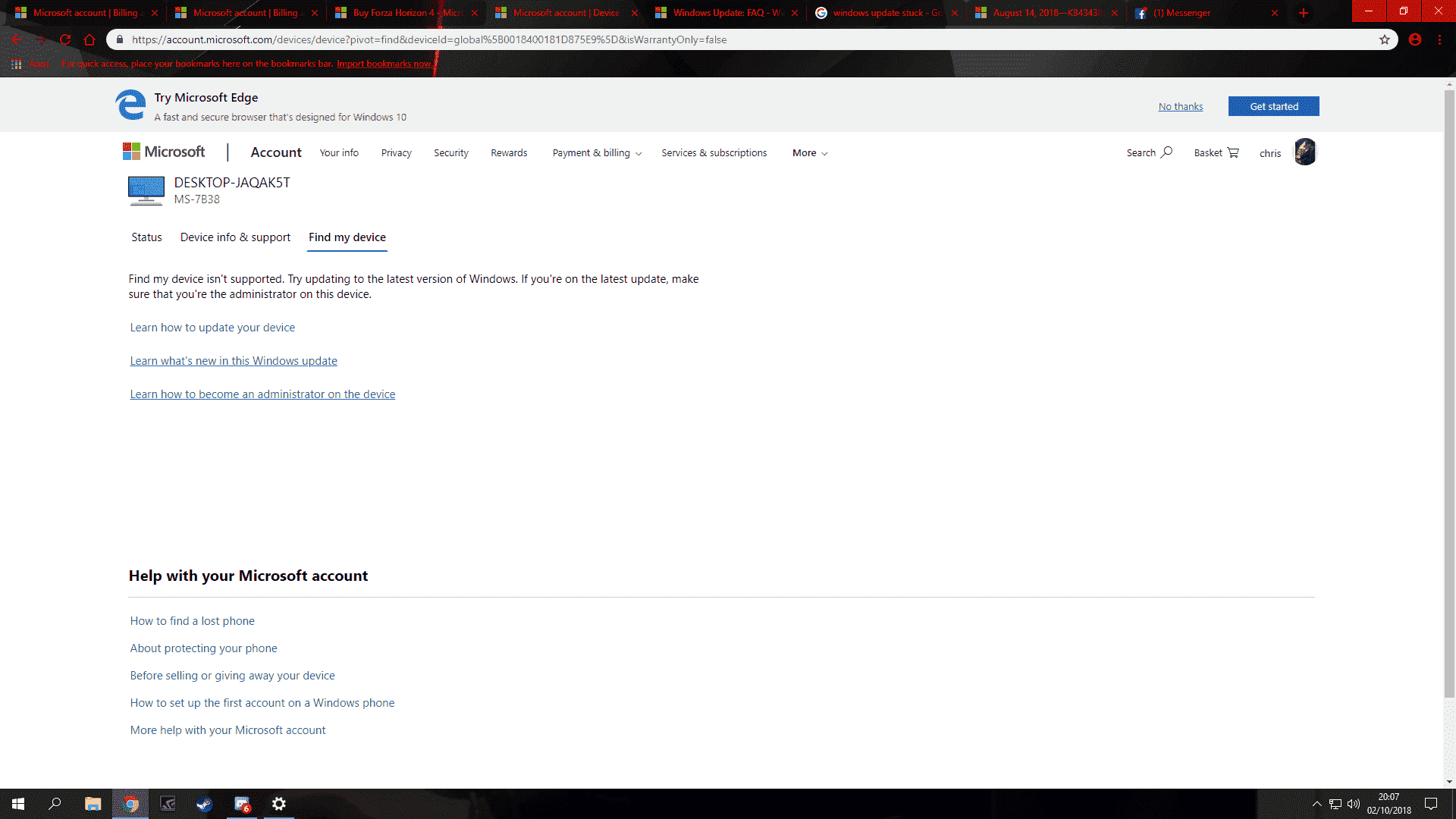 forza horizon 4 pc   purchased but wont download