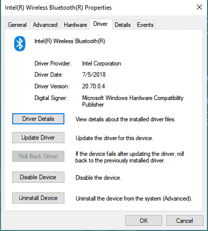 bluetooth driver update