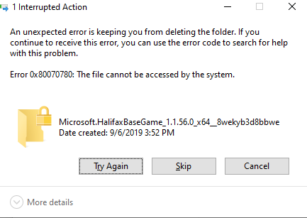 Can't uninstall/reinstall app after corrupting the data. Unable to delete folder. 0ed0a0a5-d3da-4c52-bacd-bfc05771f2e9?upload=true.png