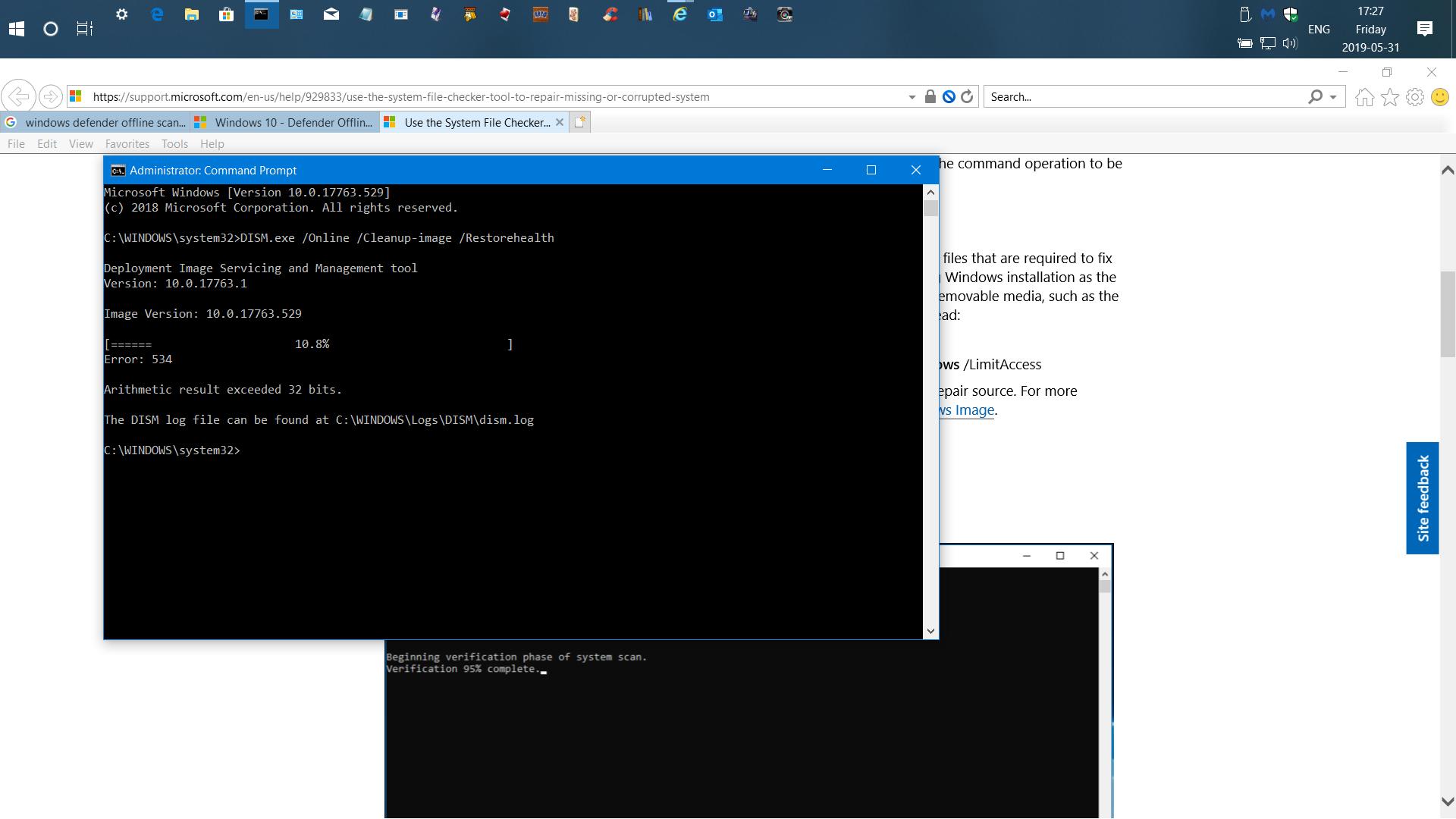 Windows off Line Scan won't Run  code: 0x8004cc01 0fc2509f-b0b7-4542-beff-ff8d54e40521?upload=true.png