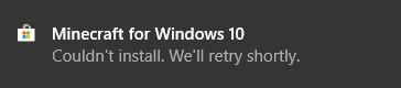 Couldn't install. We'll retry shortly 0fea7717-b111-48ba-8112-3a1b13e29ae0?upload=true.jpg