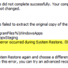 An unspecified error occurred during System Restore (0x800700b7) 0x800700b7-100x100.png