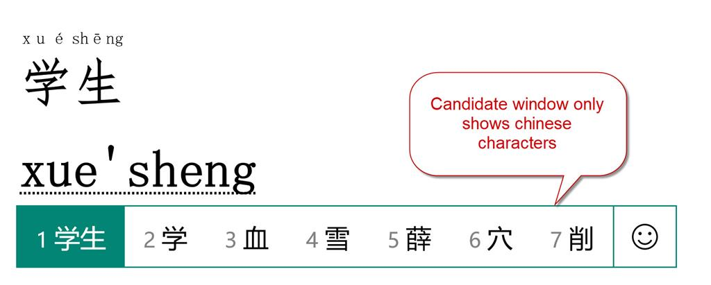 While typing with Microsoft Pinyin, I cannot see any candidates characters, the pop-up... 112661b4-b84a-435c-8a60-e88b7a36c066.jpg