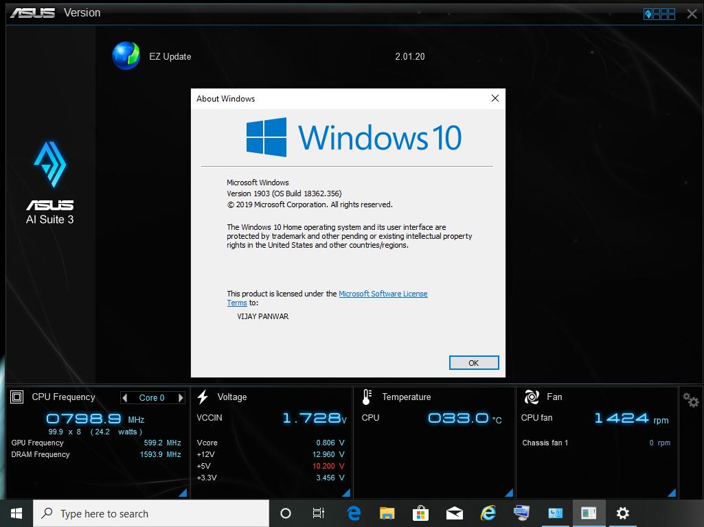 Microsoft windows 10 update versions 1803 to 1903 is