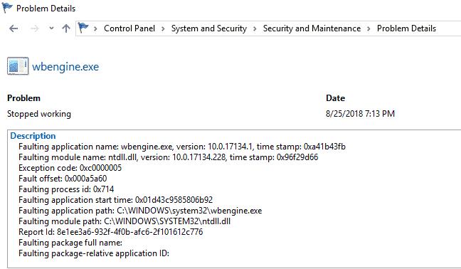 Backup fails