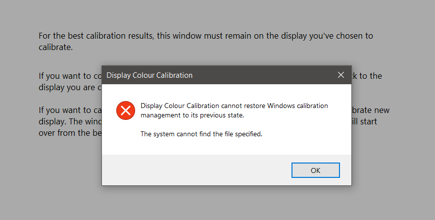 Display Colour Calibration cannot save new calibration 15647753-5aee-489f-bbb8-ffd08ae2c36f?upload=true.png