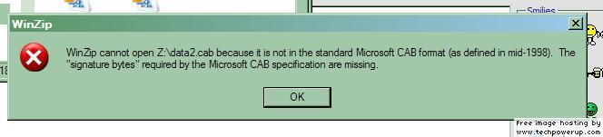 The system cannot find the file specified when the .cab file is definitely there. 1826.jpg