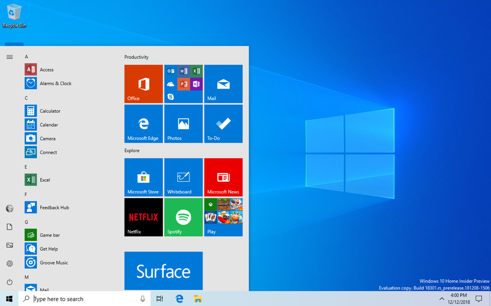 What is new for Windows 10 May 2019 Update version 1903 18305-1.png