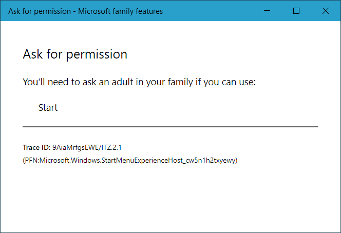 """Microsoft Family spurious """"ask for permission"""" message 1852a5dd-5abc-44a2-8d3e-02b13b9cb70f?upload=true.png"""