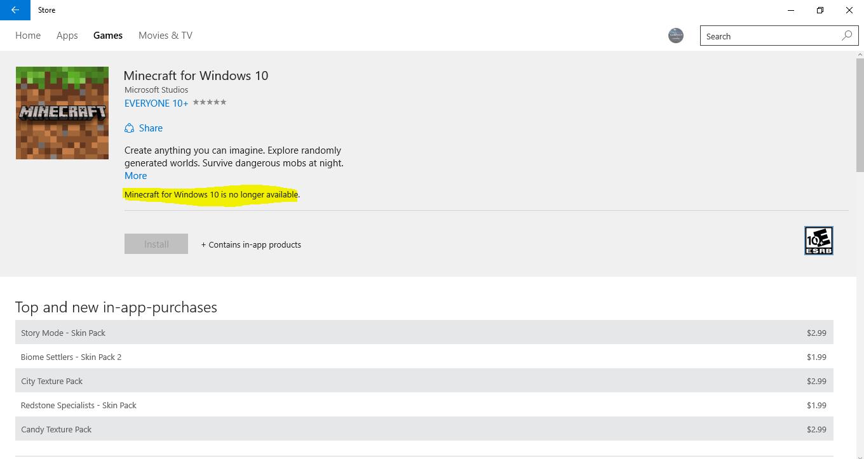 Minecraft Windows 10 unavailable 18fc73ed-1b46-4461-845c-102814b3afe9?upload=true.png