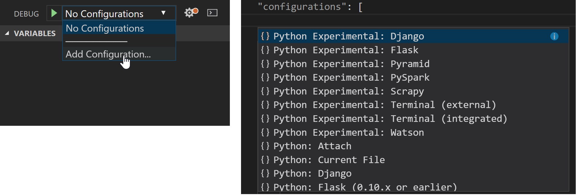How do I fix it in Python 3.9.0 Visual studio code ---ImportError: DLL load failed while... 1_ExperimentalDebugConfigs.png