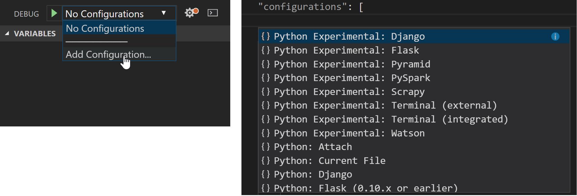 Python Unexpected Token Syntax Error in Visual Studio Code
