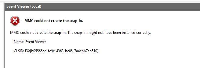 Windows 10 Pro MMC could not create Snap-in. Event Viewer 1cf1edf7-4a13-45ba-97da-0cdc27002e57?upload=true.jpg