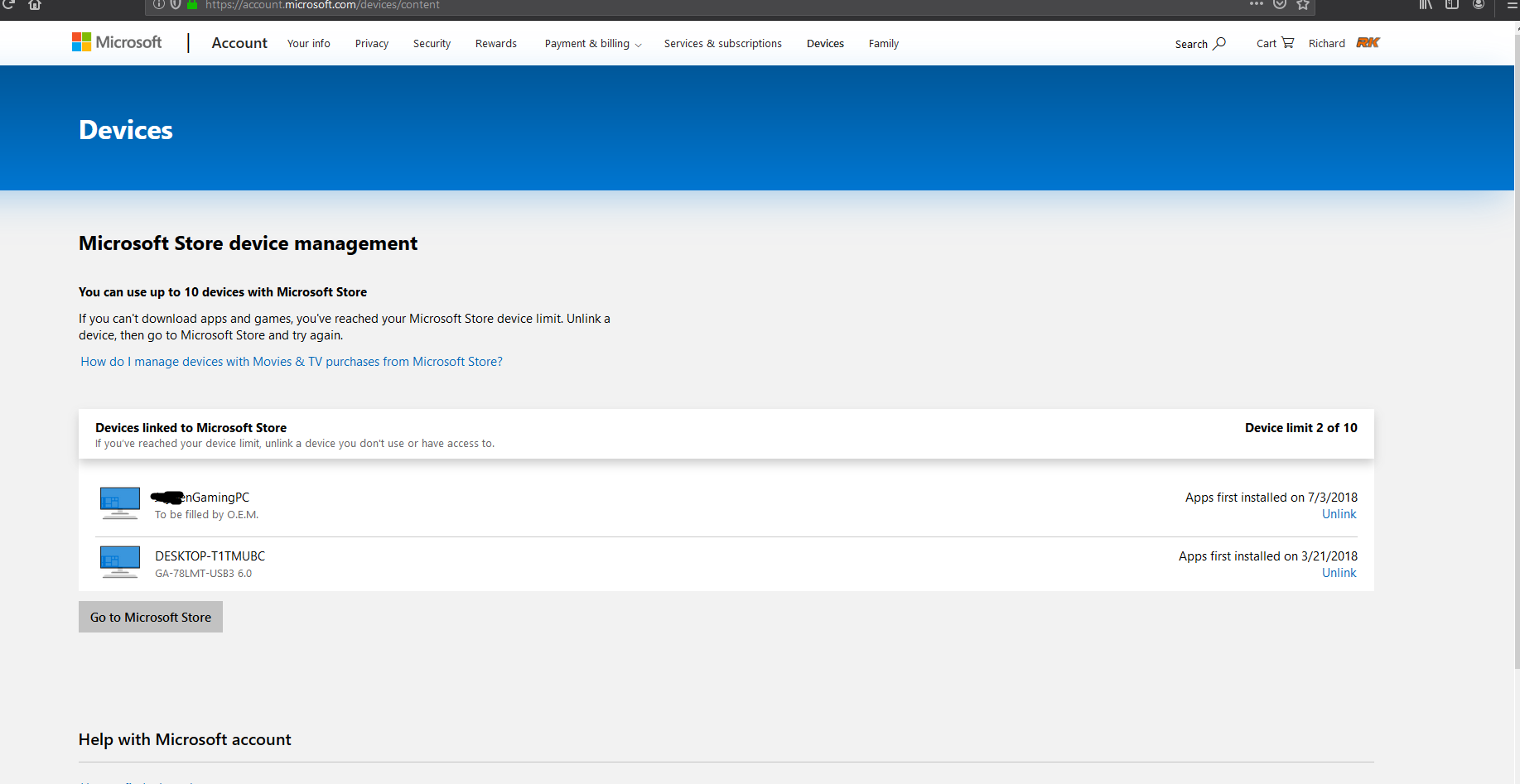 My PC isn't showing up as a device in Microsoft Store 1dc3ba8a-57c7-45ec-9098-d2c7523e4ee2?upload=true.png