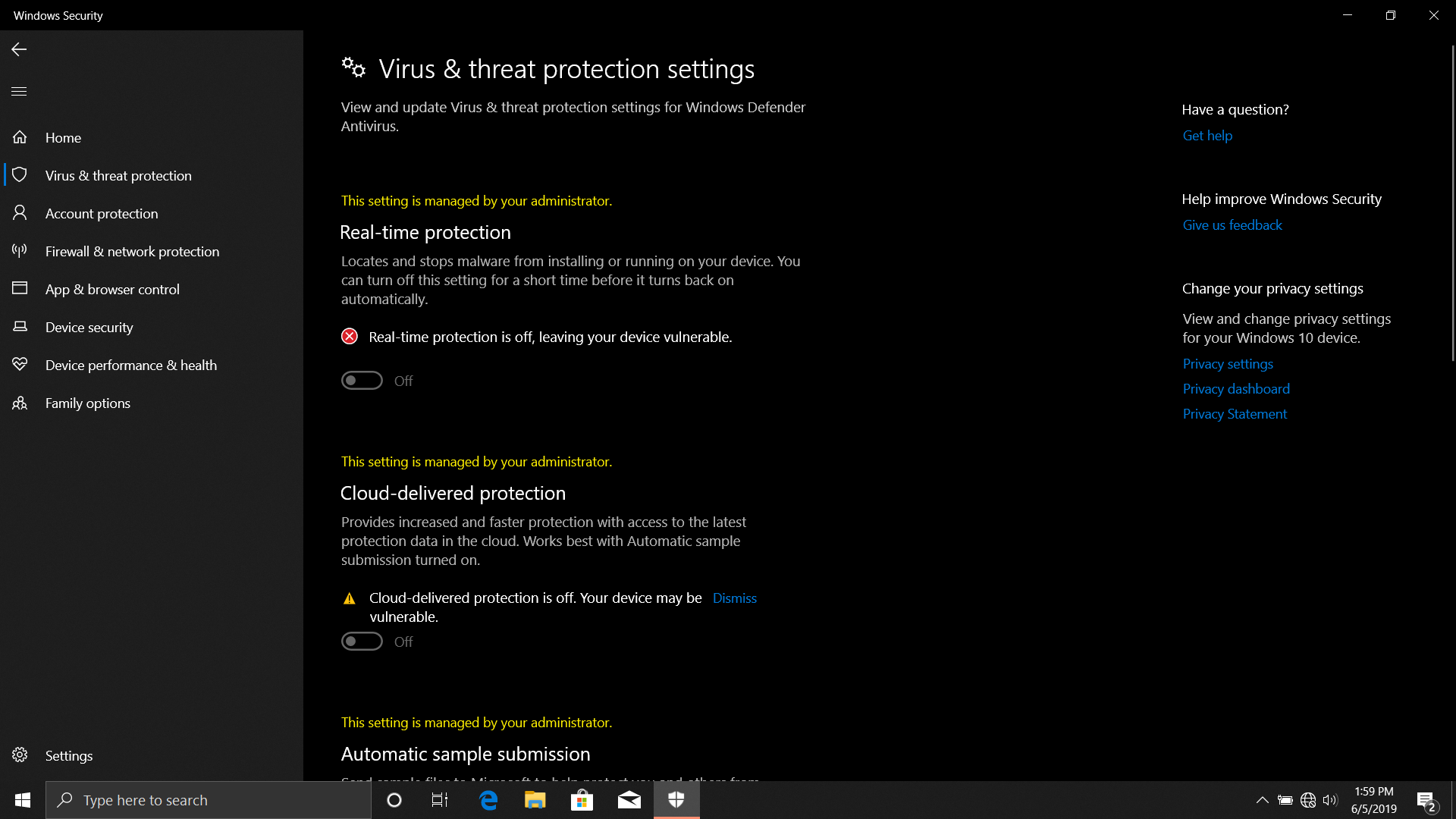 Windows 10 Security Center Issues with Other Providers and Itself. 1e8395a0-41fc-4f85-a908-e4302af866f4?upload=true.png