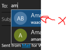 "In Windows 10 Mail often when starting to type a contact's name within the email's ""To""... 1e9bf507-0c7b-43a9-8f4a-f28d4ad91290?upload=true.png"