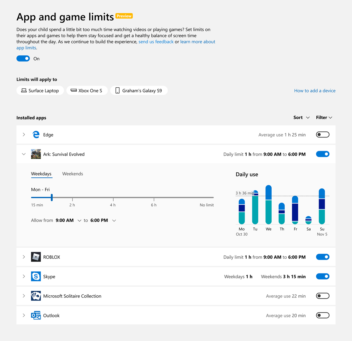How to Set App and Game Limits for Microsoft Family Child Member 2-ARK-limits_crop.png