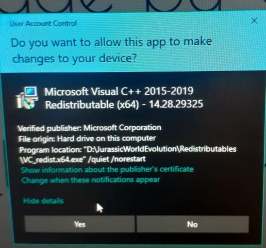 Microsoft Visual C++ 2015-2019 Redistributable Issue 2362b86e-28eb-4c8b-a468-e689442da0ee?upload=true.jpg