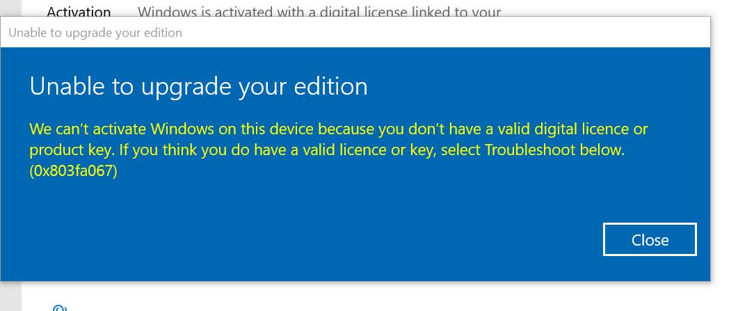 error-0x803fa067 while upgrading to Windows 10 Pro. 23c2d1cb-6565-4a06-9edf-58258f909284?upload=true.png