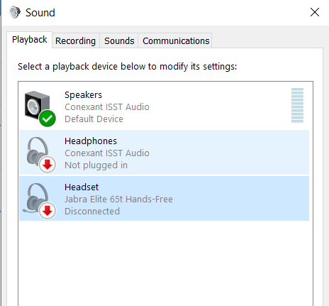 Bluetooth Headset Is Connected And Paired But Shows As Disconnected In Sound Setting