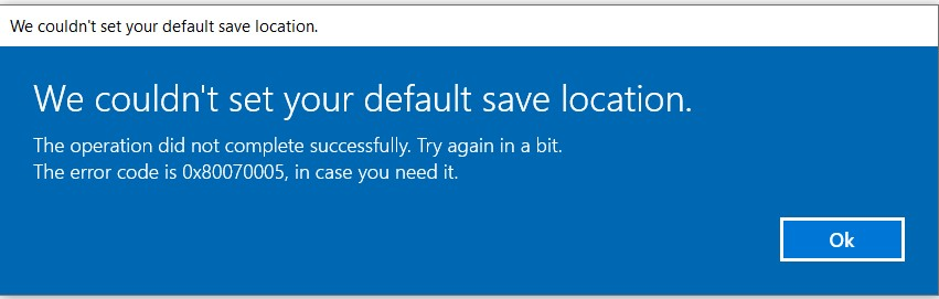 Tried many methods still cannot get the microsoft store save location changed to D drive. 2765cc3b-30c2-443c-be89-0a1683db1919?upload=true.jpg