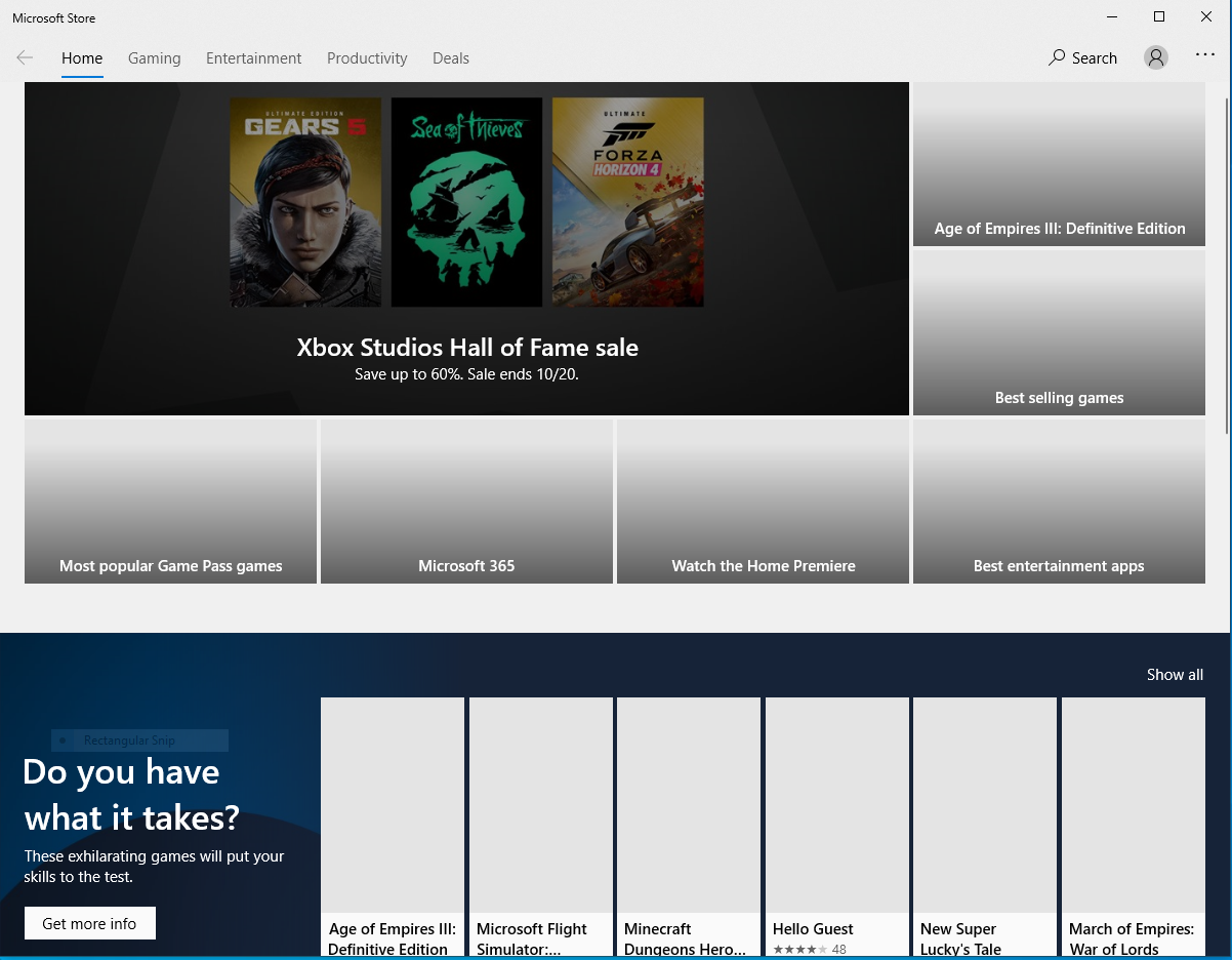 Xbox app for PC and microsoft store will not load fully. 29b2b938-35b0-49a6-8142-44f471e1389a?upload=true.png