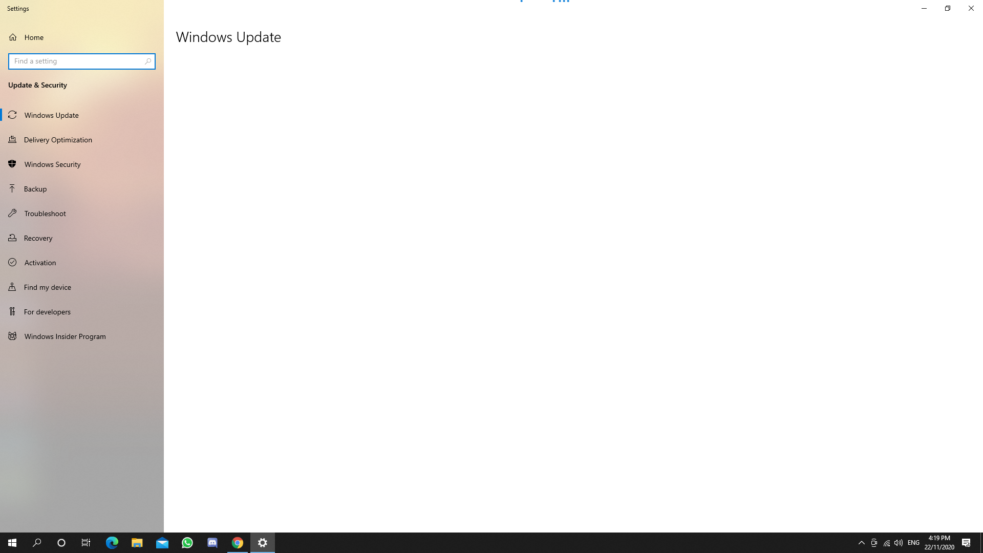 windows update loads forever and stays blank 2a0160c0-a42c-466f-827d-6f72355613c8?upload=true.png