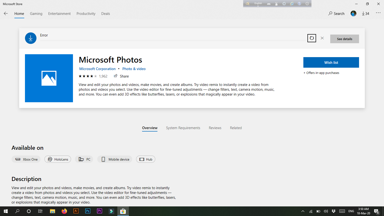 Microsoft Store Apps are not working. 2c0272cb-e7a0-41ff-8f75-fdeb7b513efd?upload=true.png