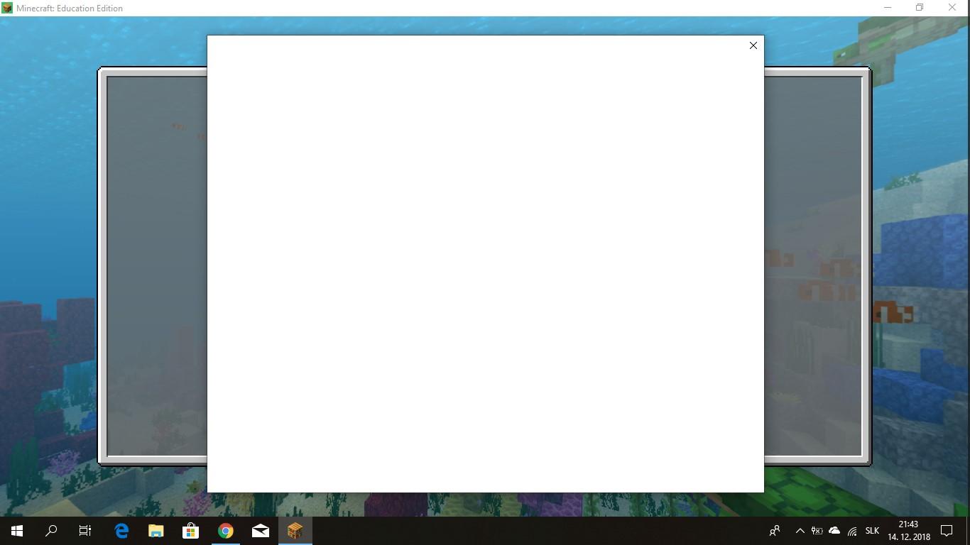 Blank Login Screen Minecraft Education Edition