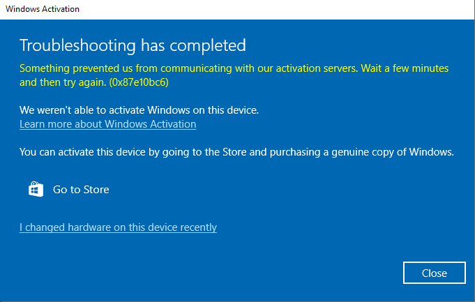 Windows 10 Activation via Digital License - Error Code 0x87E10BC6 302ab6fb-40b6-482c-a6b4-1df853351492?upload=true.png
