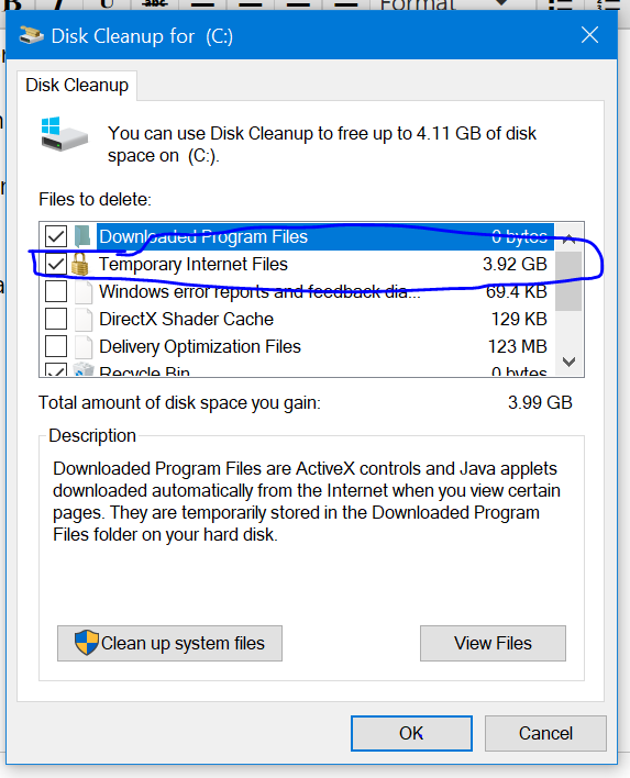 How we delete Temporary Internet Files...I am Unable to delete it 323a77ce-b7d0-4856-82cf-3ad016689b20?upload=true.png
