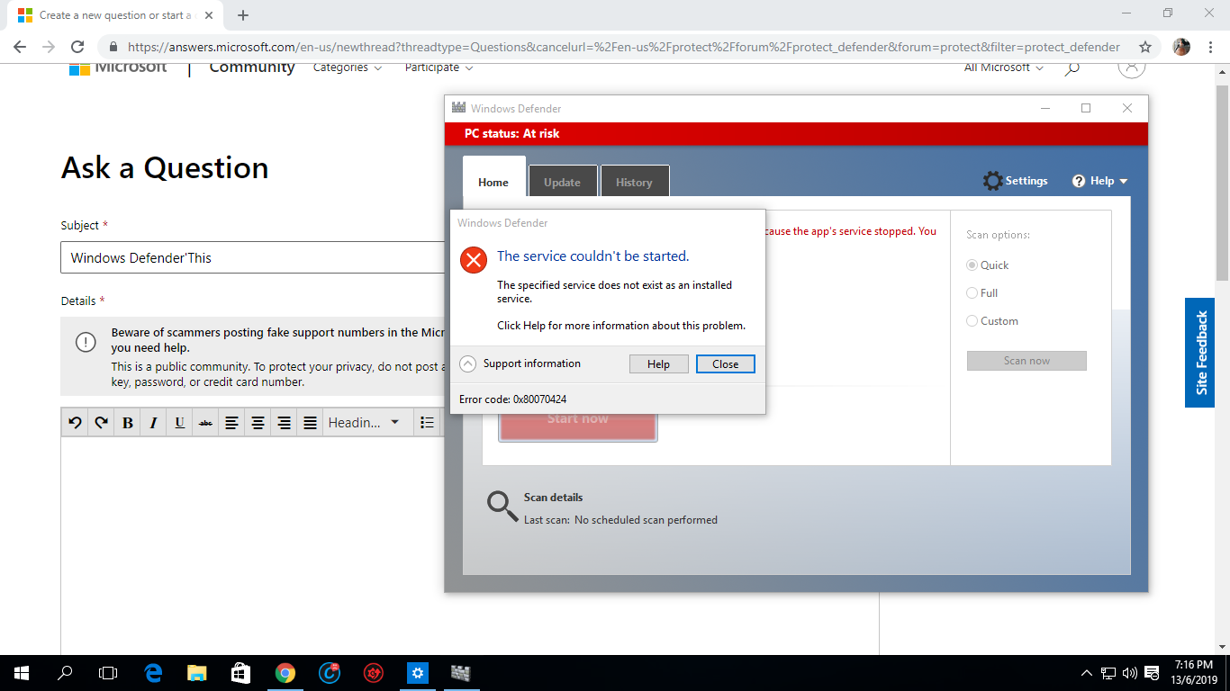 Windows Defender'This Service Couldn't be Started' 33beacbf-749c-422b-93af-8cb91ce756b6?upload=true.png