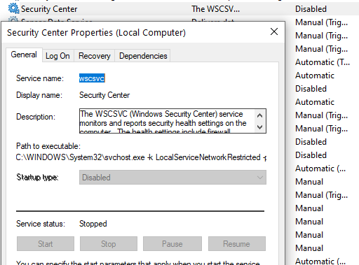 Turn on Windows Security Centre service is turned off 3483e752-49b5-49cc-ab85-0860f752b8de?upload=true.png