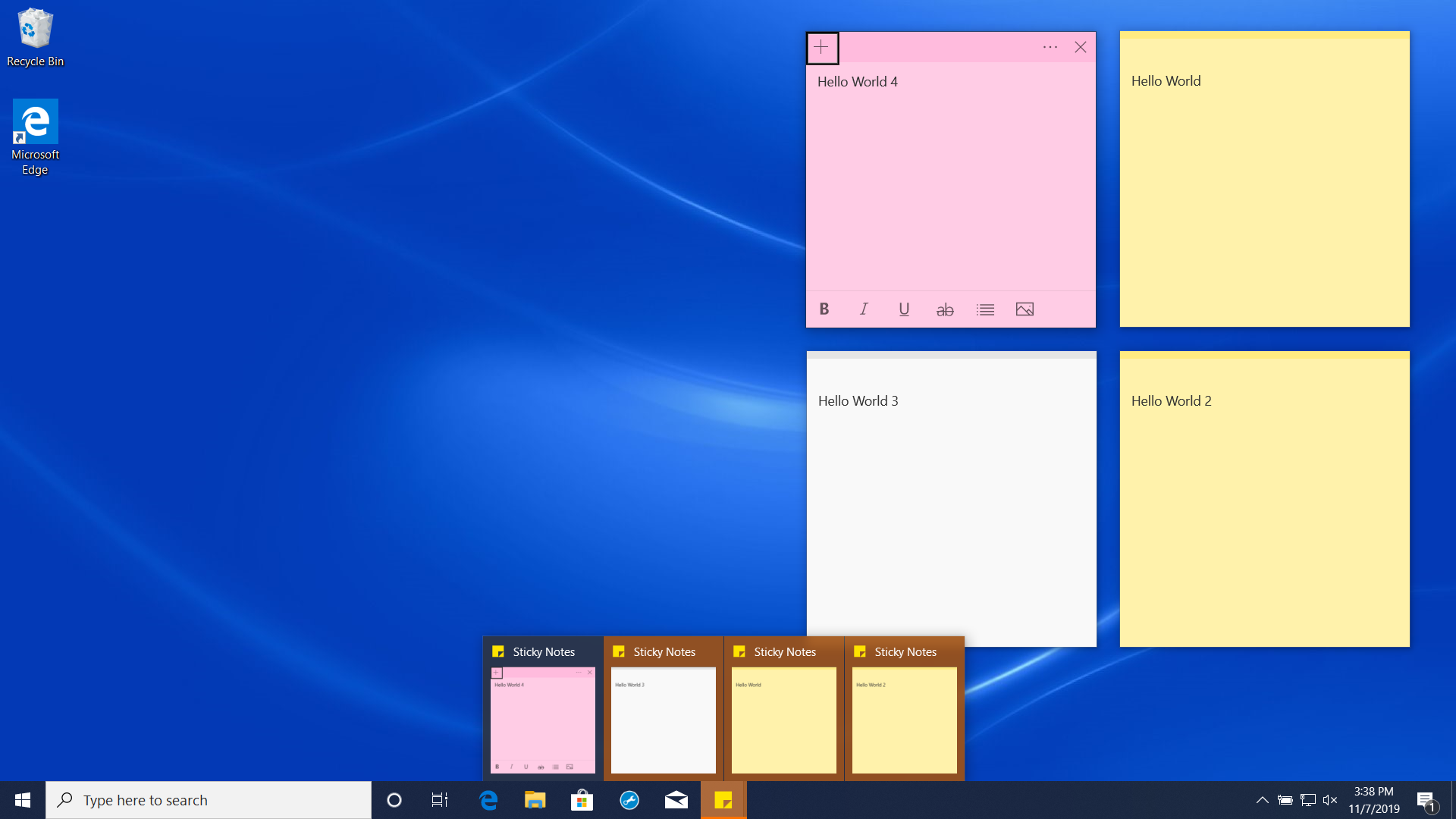 Sticky Notes always 'require attention' flashing when first logon (Win 10 1903 update) 353071c2-761f-49a7-9602-91e40ea850ee?upload=true.png