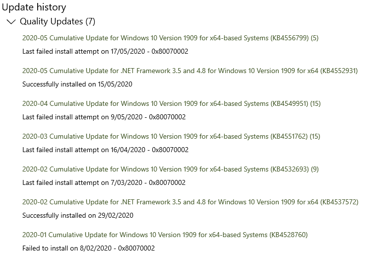 Cumulative Update for Windows 10 Version 1909 for x64 based Systems - all failing with... 35755514-badc-46e7-bdd8-74c0378bb8d4?upload=true.png