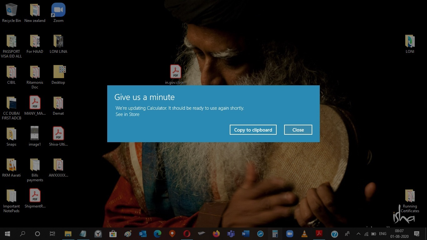 calculator app not working getting this screenshot Win 10 running on latest update 358abcc6-877f-40d6-9bd2-c3eca61344a1?upload=true.jpg