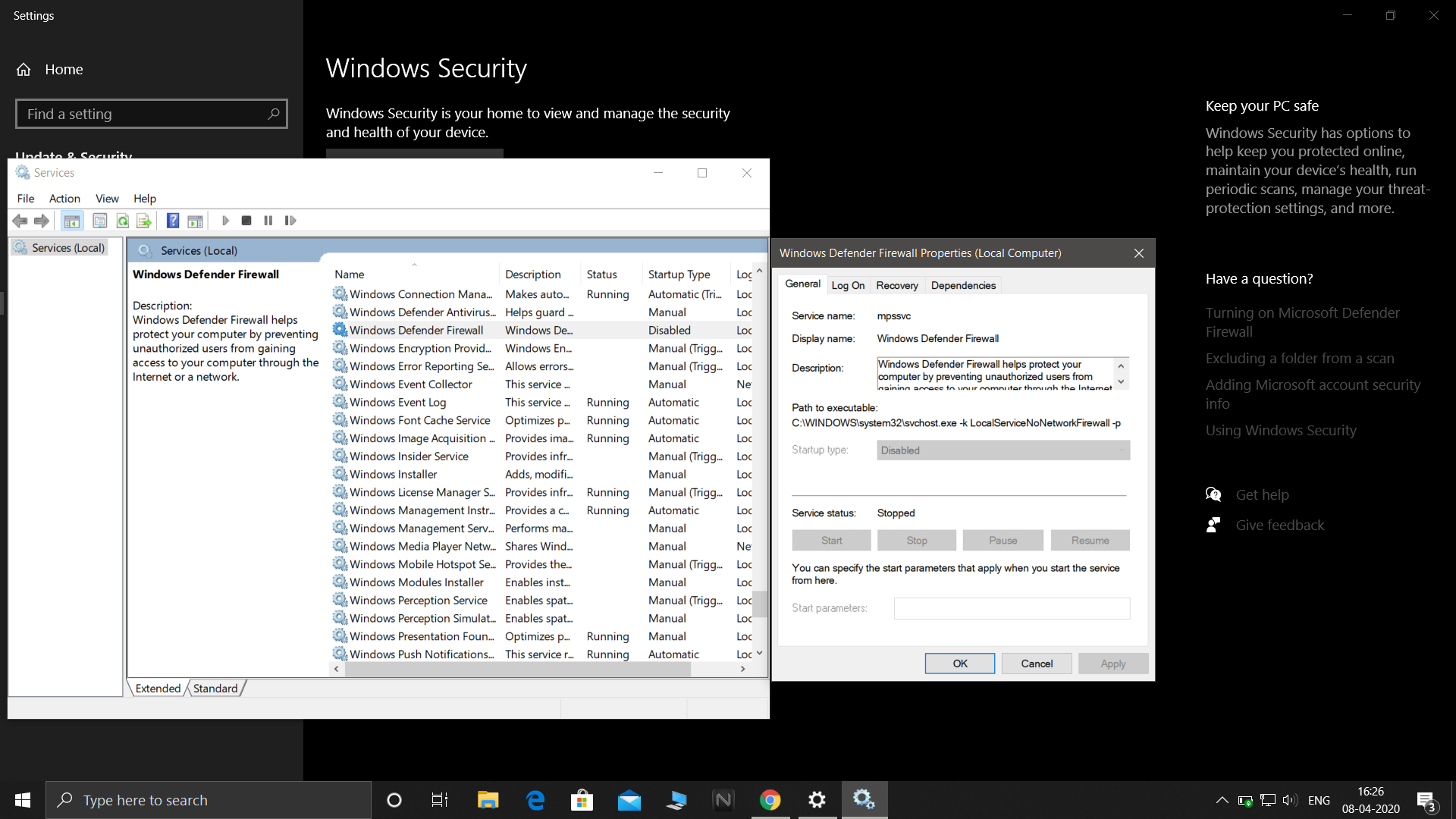 windows defender and firewall not starting 359c1755-3f69-4fcd-a1d2-899c651ae99a?upload=true.png