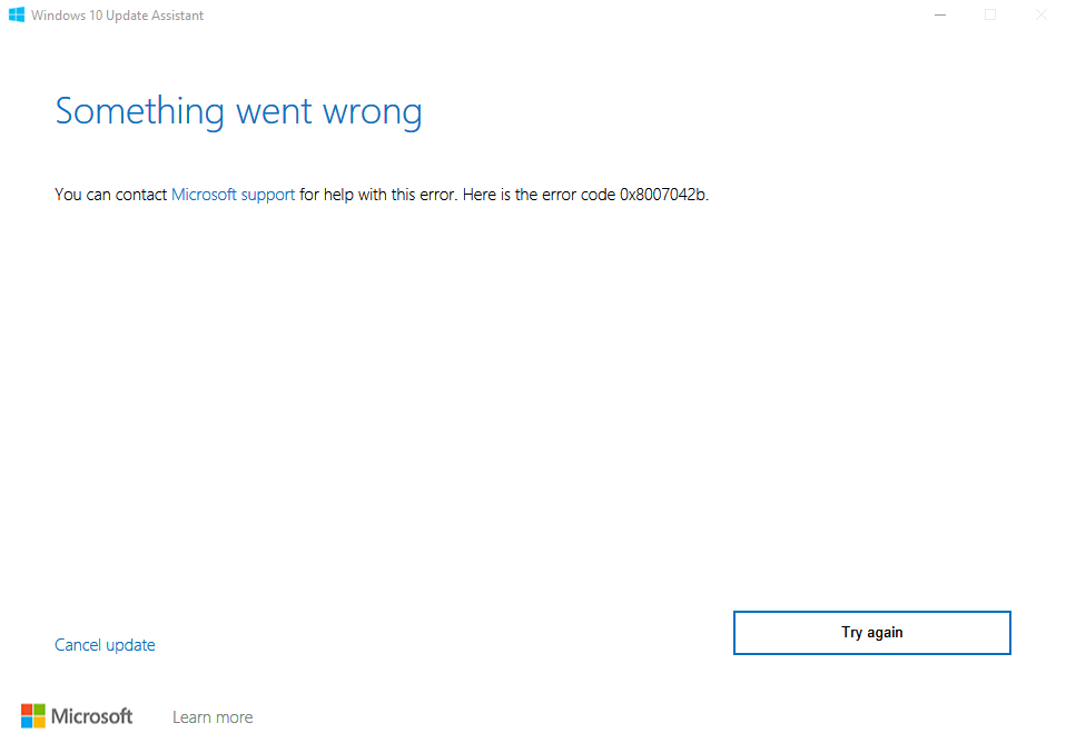 Windows 10, 1909 Update Fails!! 35b5cc32-bba5-4efd-b1af-0c58c618cd9f?upload=true.png