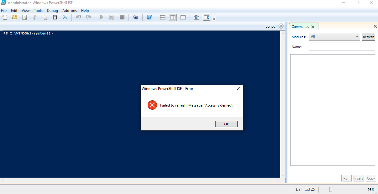 Powershell 64 ise addons not showing