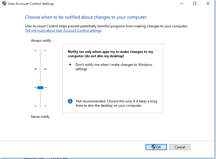 Windows 10 not allowing me to search, unless UAC is completely disabled. 3bad81a6-0885-4c42-b10d-9c53d2f543f7.png