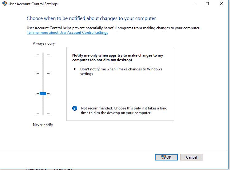 windows 10 keeps resetting UAC 3bad81a6-0885-4c42-b10d-9c53d2f543f7.png