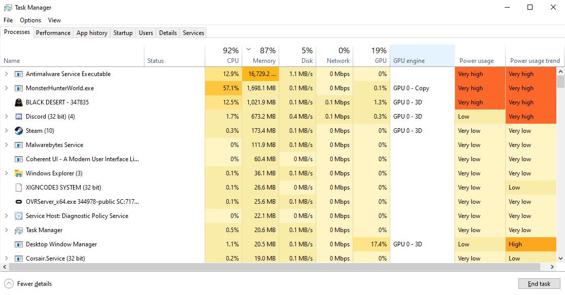 Antimalware Service Executable MsMpEng.exe - 100% ram usage