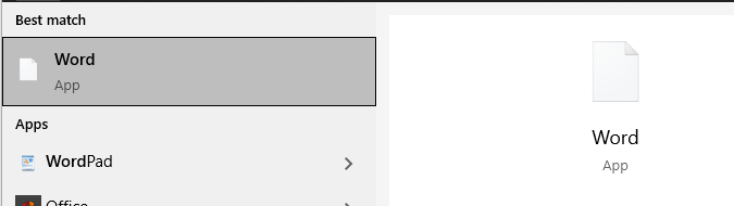 Apps missing icons in the Start Menu search results 3e96237e-2f15-4a85-935c-0ee90835bdb3?upload=true.png