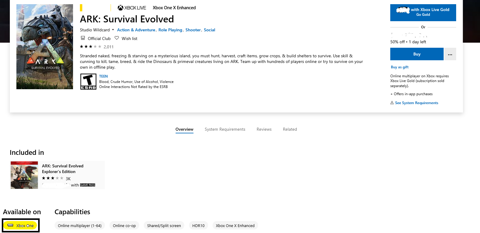 Ark Survival evolved from windows store, Not working = 3f3e8035-d45a-4794-8581-6ba2c23f8874?upload=true.png