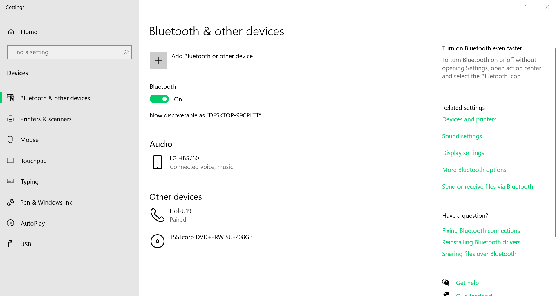 How to use Bluetooth headset microphone as Windows 10's mic