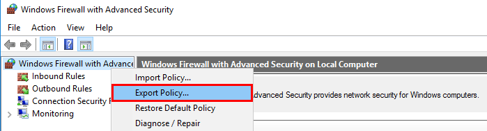 Block all in/out traffic except to a single IP in Windows Defender Firewall 3GC9R.png